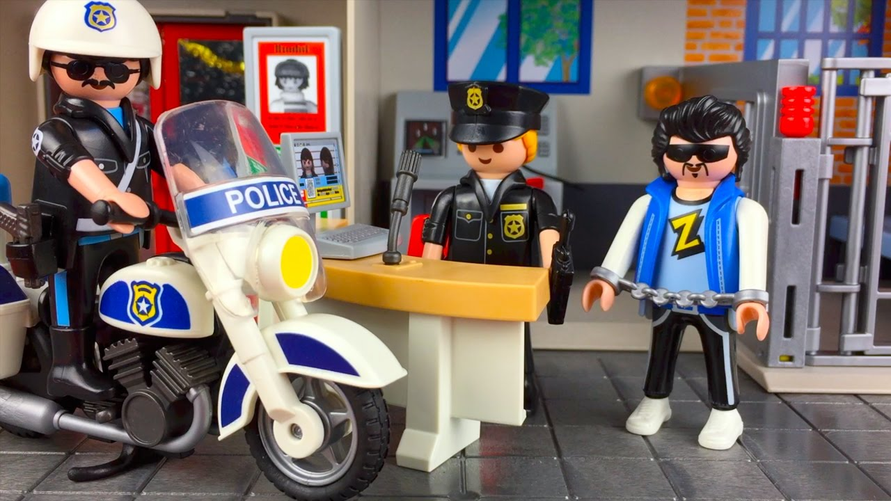 playmobil toy police station youtube - Playmobile Police