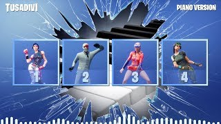 PIANO VERSION - GUESS THE FORTNITE DANCE BY ITS MUSIC | tusadivi