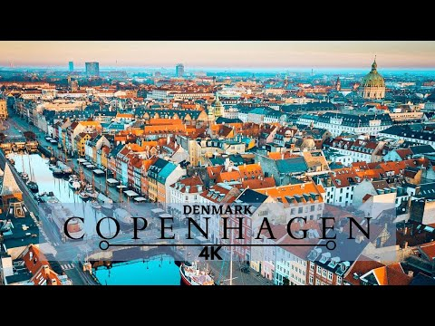 COPENHAGEN 4K Denmark 4k-The Happiest Country In The World- Cinematic Drone Footage