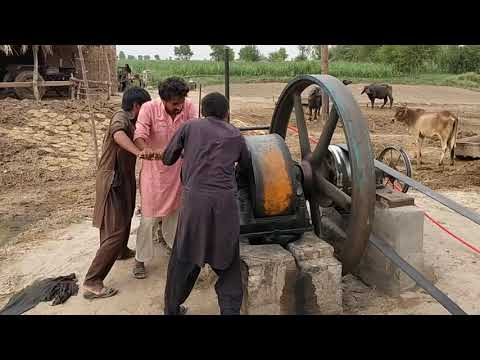 Beautiful Starting Old Black Desi Diesel Engine Working with Chakki Atta Ruston Hornsby from YouTube · Duration:  3 minutes 45 seconds