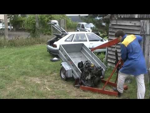 volvo diesel 240 picking up the new engine : shit happens...