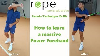Tennis Forehand Technique - How to learn a massive Power Forehand
