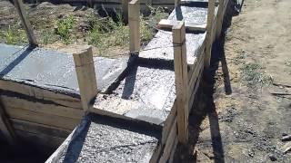 25 кубов бетона в ленточный фундамент(, 2015-06-14T17:26:36.000Z)