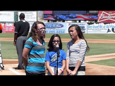 Inland Leaders Charter School Singing the National Anthem
