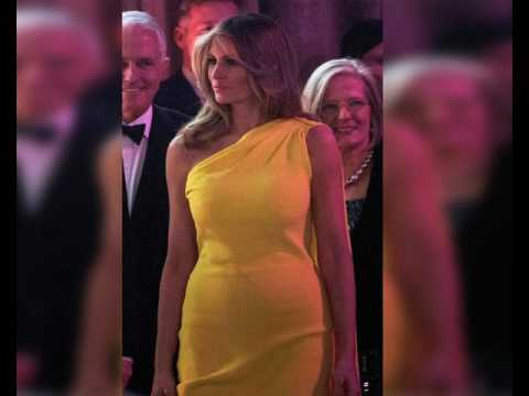 Melania Trump Stuns In Yellow Gown At Dinner With Australian Pm