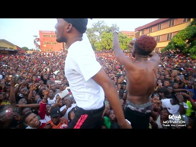 Erigga motivation thank you concert auchi poly edo state