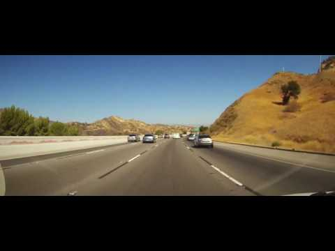 Driving on Interstate 5 from Los Angeles to Kern County, California