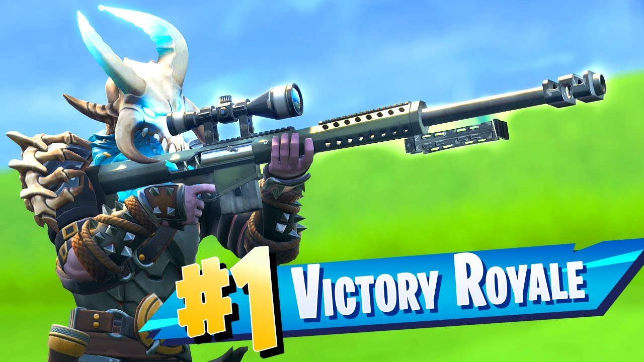 The New Heavy Sniper Rifle Gameplay In Fortnite Youtube