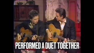 """Bob Dylan & Johnny Cash Perform """"The Girl From The North Country"""" from the Johnny Cash Show (Edited)"""