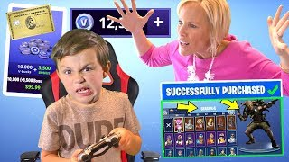 Kid Spends $200 on Fortnite and Buys 27,000+ V Bucks and Mom FREAKS OUT [MUST WATCH] | DavidsTV