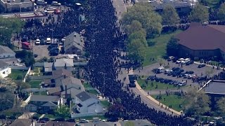 Thousands Pay Tribute to Slain NYPD Officer Brian Moore