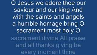 O Jesus We Adore Thee ( O Sacrament Most Holy ) - Adoremus 517 thumbnail