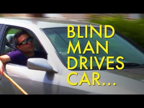 Blind Man Drives Car