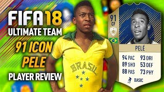 FIFA 18 PELE (91) *ICON* PLAYER REVIEW! FIFA 18 ULTIMATE TEAM!