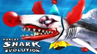 Hungry Shark Evolution - Halloween Update - Clown Baby