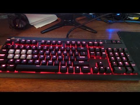 Corsair STRAFE keyboard key removal and insertion