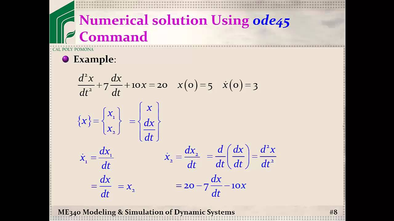 Solving a second order differential equation,simplependulum, in.