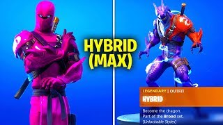 HOW TO GET MAX HYBRID SKIN IN FORTNITE SEASON 8! (UNLOCK HYBRID STAGES FREE REWARDS)