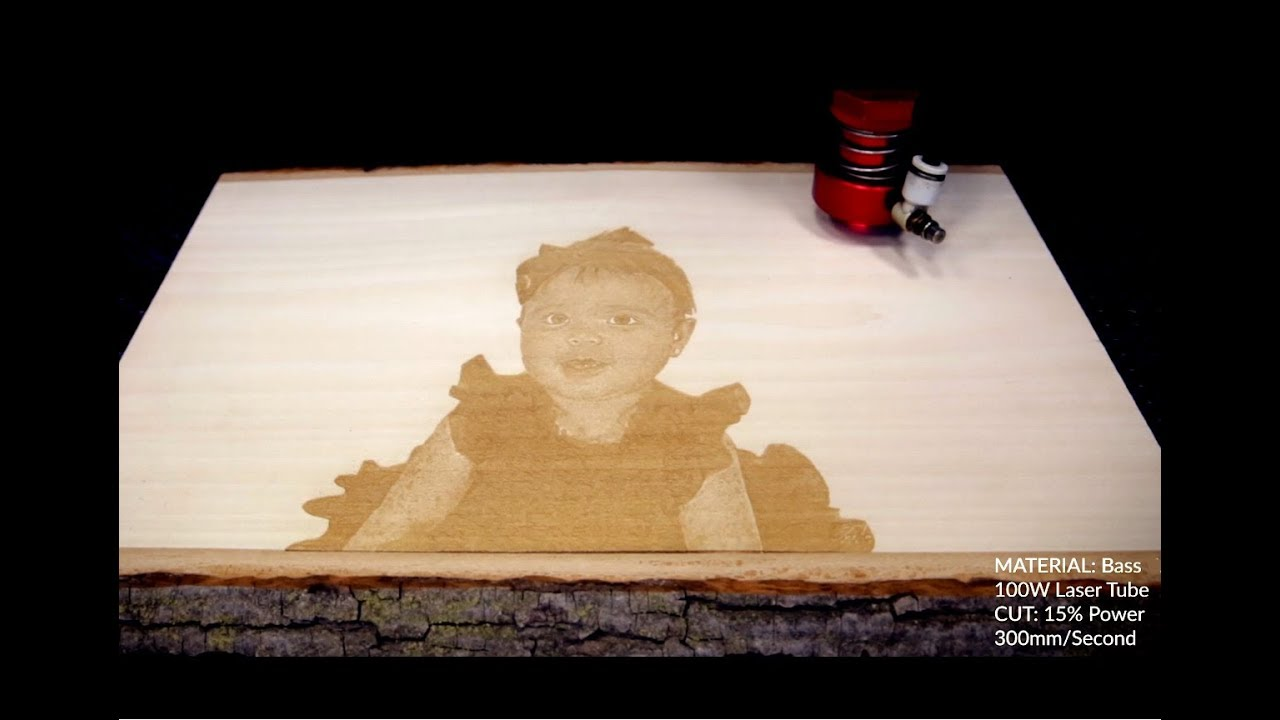 Laser Engraved Etched Photo On Wood Boss Laser Youtube