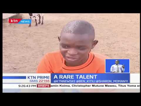 A class 6 drop out blind boy in Kakuma town who has a talent in football commentary