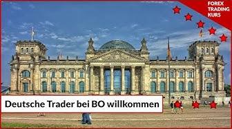 Deutsche Trader bei Binäre Optionen Willkommen