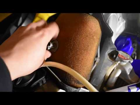 How To Change Air Filter/Clean Airbox On A DirtBike (Yz450F)
