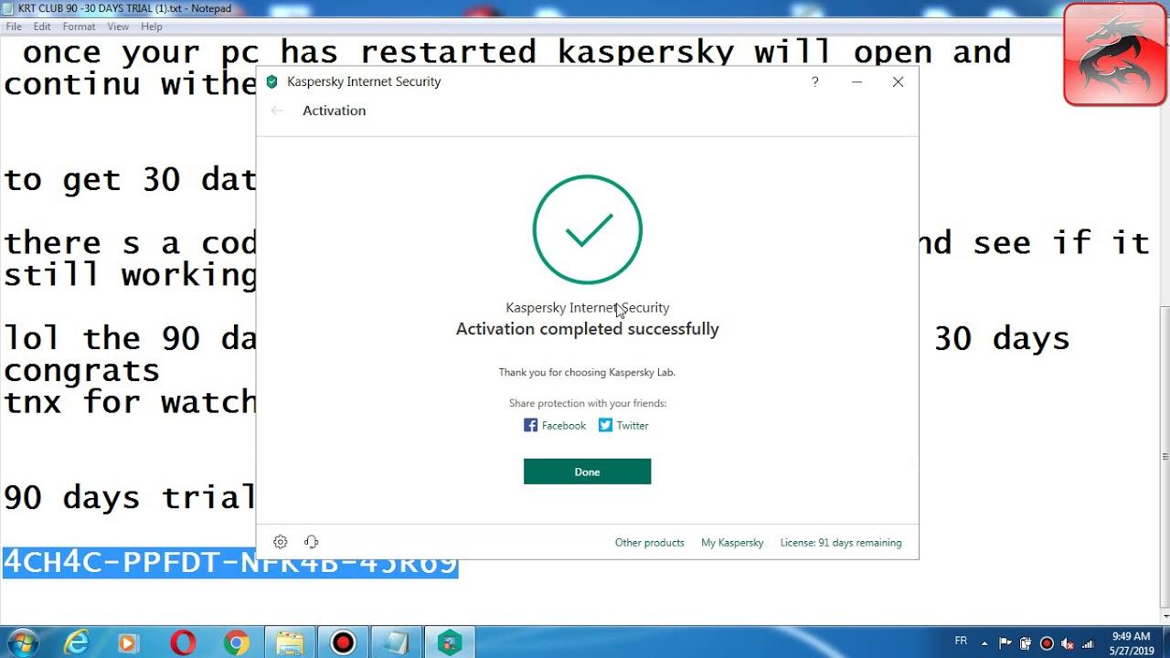 Kaspersky internet security 2019 trial reset 30 90 days part 3