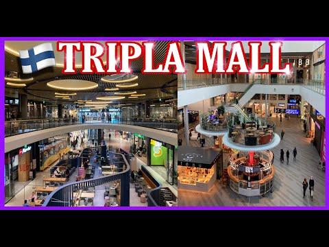CITY WALK [4K]   MALL of TRIPLA PASILA Helsinki   FINLAND 🇫🇮