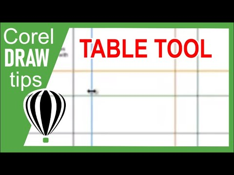 Using the Table tool in CorelDraw