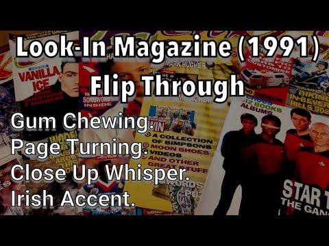 ASMR Flipping Through LOOK-IN Magazine (UK) / Male / Irish Accent / Page Turning / Gum  / Whisper