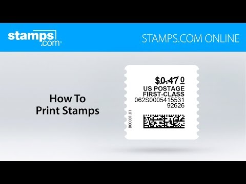 How to Print Postage Stamps - Stamps.com Online