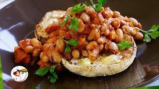 Тушеная фасоль с грибами Сытное вегетарианское блюдо