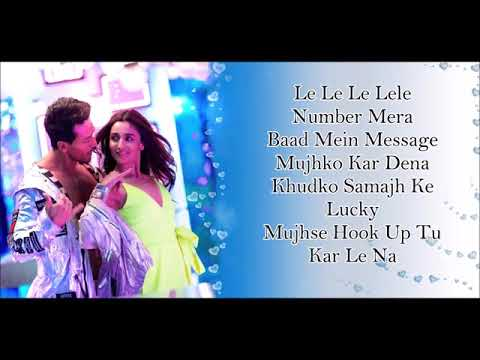 Hook Up Song Lyrics   Student Of The Year 2   Tiger Shroff  Tara  Ananya   Neha Amp Shekhar