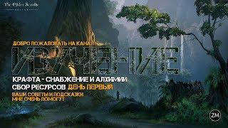 The Elder Scrolls Online Изучение крафта  (день первый)
