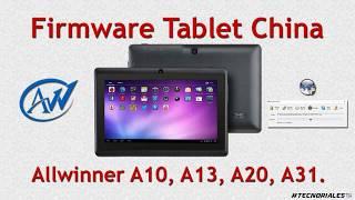 Instalar firmware tablet china con Livesuit + Colección de ROMs