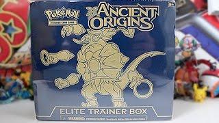 Opening A Pokemon Ancient Origins Elite Trainer Box!!