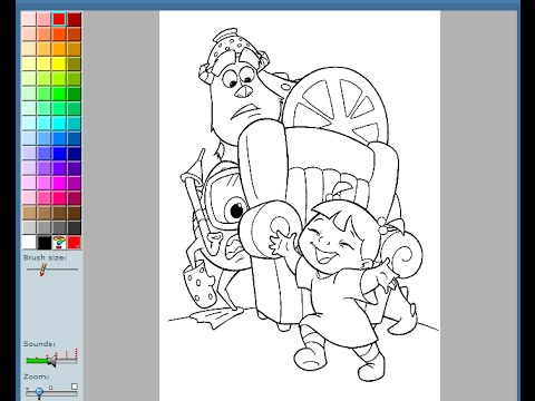 Monsters Inc Coloring Pages For Kids - Monsters Inc Coloring Pages ...