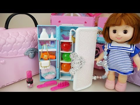 Thumbnail: Baby doll Hand bag closet and surprise eggs toys play