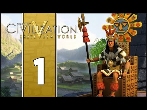 Road to El Dorado - Let's Play Civilization V Gameplay (Deity Gameplay) - Incas - Part 1