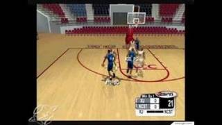 NCAA College Basketball 2K3 GameCube Gameplay - Gym practice