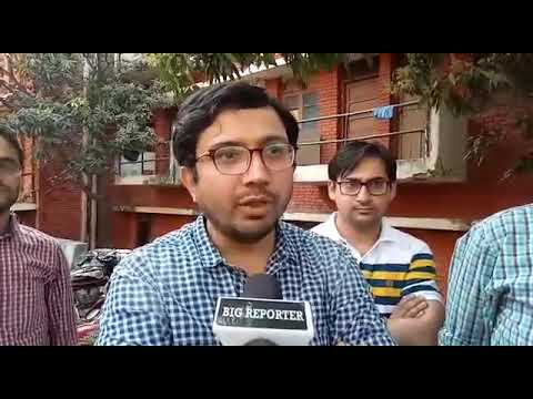 Dr. Amit Kumar, posted as registrar in GMC Jammu addresses media persons
