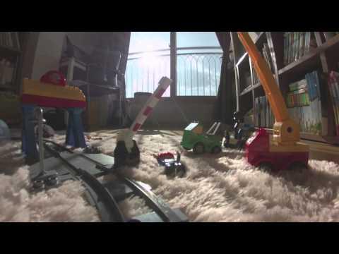 LEGO Duplo train in the room