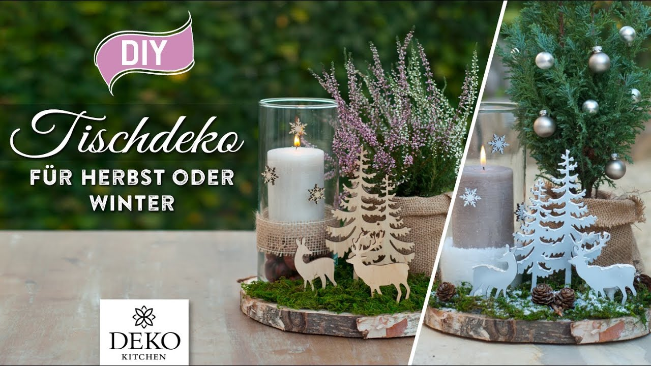 Diy s e tischdeko f r herbst oder winter how to deko - Winterlandschaft dekoration ...