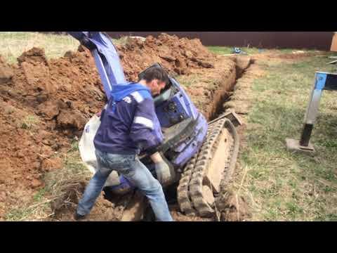 Экскаваторщик жжет или как не надо копать траншею