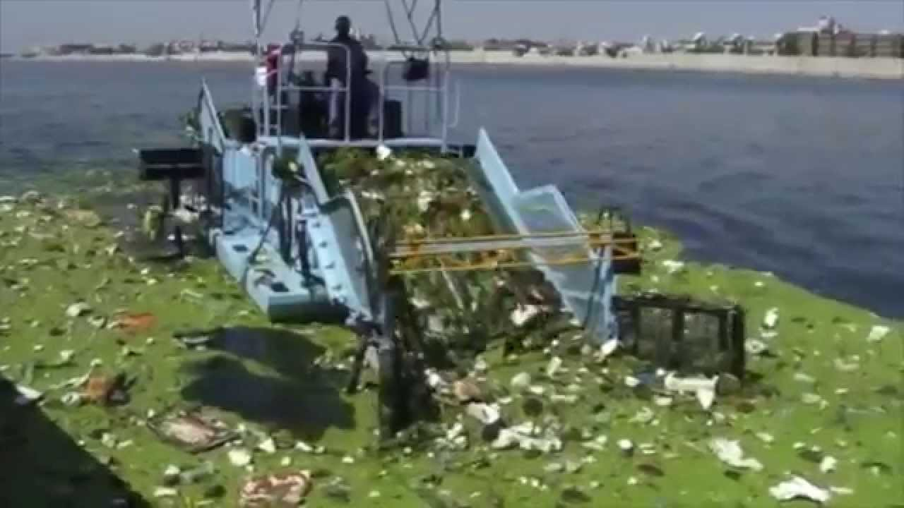Cleantec Infra Trash Skimmer For Ahmedabad Municipal Corporation Youtube