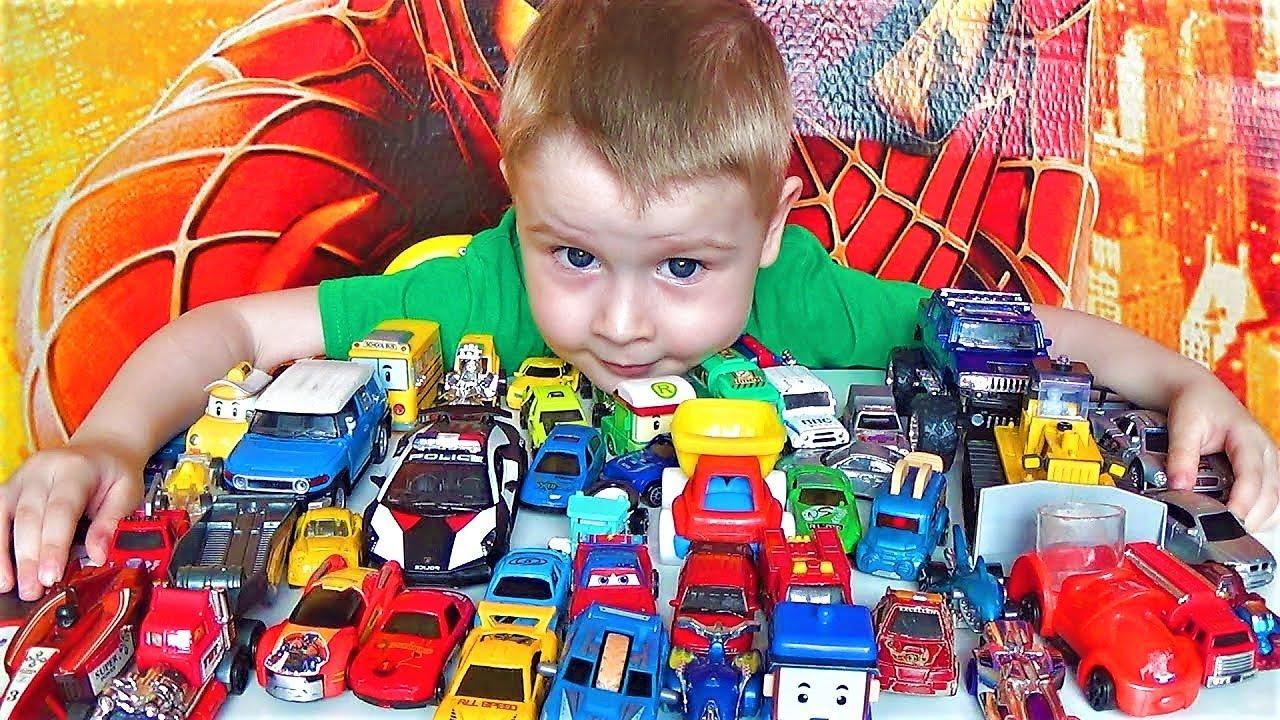 Видео про машинки - Макс и его игрушки - хот вилс, велли и много разных машин - видео для детей