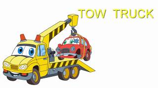 #TowTruck helps Cars | Tow Truck Song | Vehicles Song | Learn Draw car education for kids