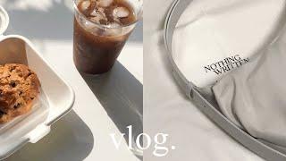 vlog. 언박싱(킨다베이지,낫띵리튼) |부라타치즈샐러…