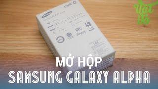 [Review dạo] Mở hộp Samsung Galaxy Alpha bản Hàn Quốc - tặng kèm pin và dock sạc