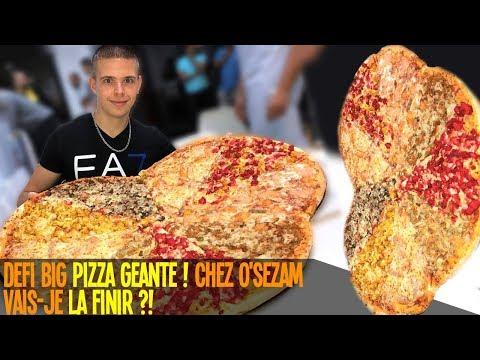 Défi BIG PIZZA GÉANTE Chez O'Sezam !! Vais je la finir ?!